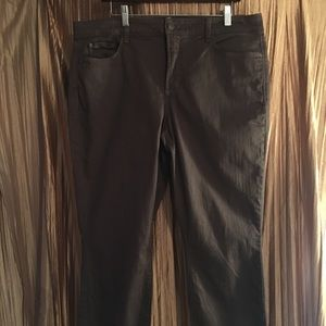 NYDJ Brown Ira Relaxed Ankle Jeans Size 14W